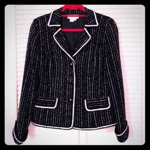 🏖NEW🏖VTG tweed textured couture Parisian blazer